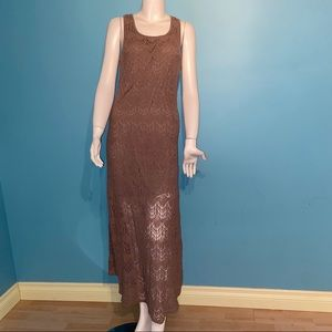 Signify crocheted maxi dress